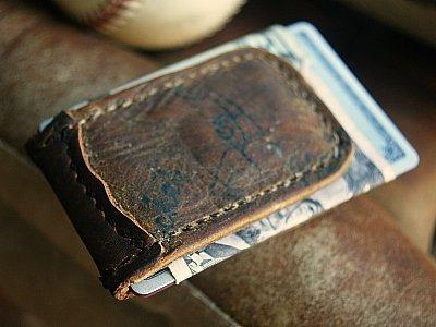 Magnetic Money Clip from Baseball Gloves