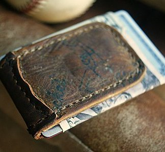Magnetic Money Clip from Baseball Gloves