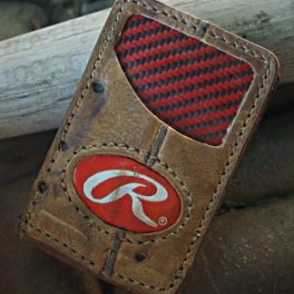Magnetic Bifold Baseball Wallet
