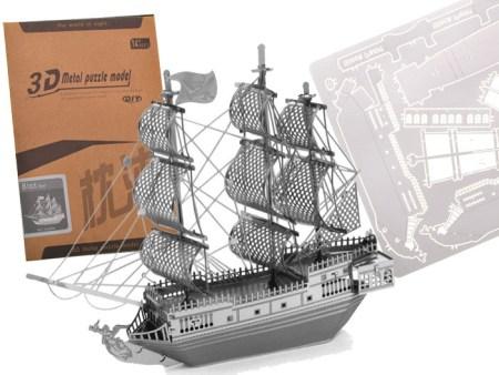 3D Kovinska sestavljanka ladja Black pearl otroške puzzle poceni