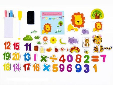 lesena magnetna tabla za risanje s flomastri za otroke