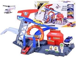 Igrača otroška dirkalna steza Reševalna postaja