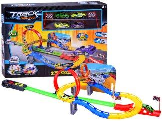 Igrača otroška dirkalna steza Track racing 2 v 1