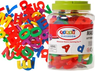 Set magnetnih črk in številk Abeceda