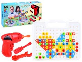 Kreativna igrača - sestavljanka z vrtalnikom Happy learning 268 delov