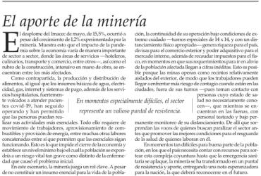 El aporte de la minería