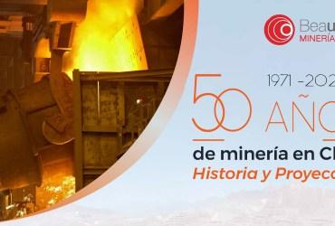 """Beauchef Minería realizará webinar """"1971-2021: 50 años de minería en Chile"""""""