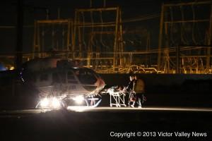 Michael Maldonado was flown to a trauma center.