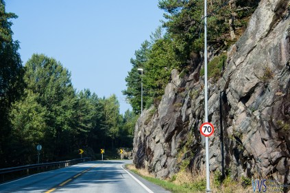 It is not likely, that you will drive really fast in Norway. Usual out-of-the-town speed limit is 80km/h so plan your travel times well ahead with plenty of reserve.