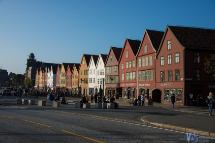 And a row of colorful Hanseatic wooden buildings, which now house bars, restaurant, museums and souvenir shops.