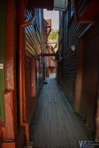 Bryggen paths are all wooden. Not surprisingly, parts of it were destroyed through history by fire, the last in 1955. While the fire destroyed some if the building, the excavation that followed revealed great runic inscriptions buried beneath Bryggen.