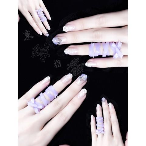【九十九一六八】束縛指輪 9号(紫)(リボンあり)