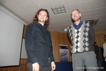 Francesco Mauro and supervisor Doug Geisler