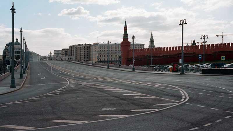 Карантин - опустевшая Москва