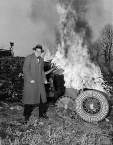Arthur H. Christy Destroying Roulette Wheel