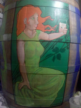 Cottonwood Economic Development Council Painted Barrel