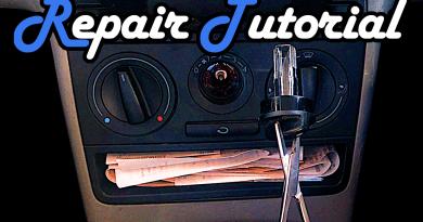 VW Lupo Lüftung Lüfter Heizung Lampe Birne autauschen reparieren wechseln reperatur Glühbirne Tausch Anleitung Tutorial Guide Beleuchtung Birne