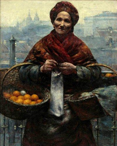 Jewess with Oranges, looted art, Aleksander Gierymski