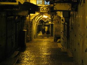 city street, night, noir