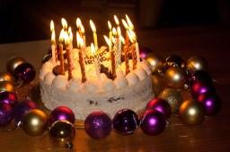 birthday cake, candles