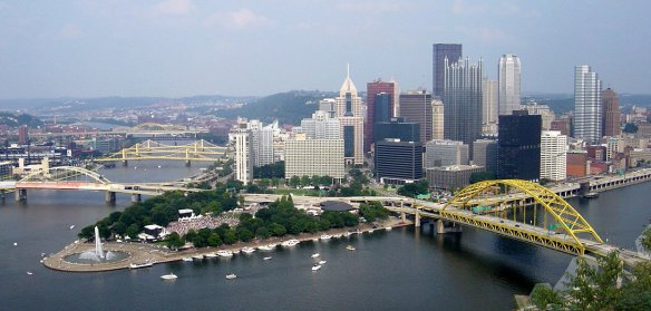 Pittsburgh, Three Rivers, skyline