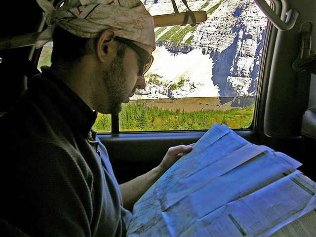 road trip, map, travel