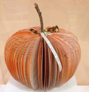 pumpkin, book art