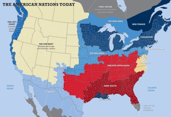 American Nations, map