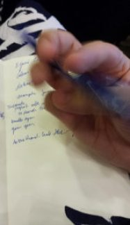 Handwriting, boredom