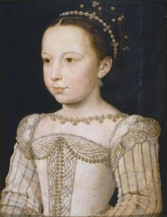 The young Margaret of Valois, by François Clouet