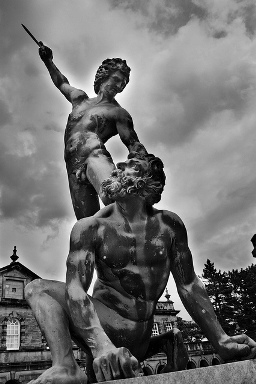 david-and-goliath, statue, sculpture