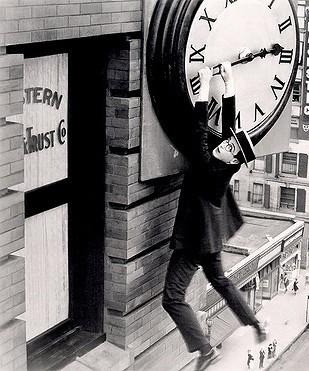 Harold Lloyd, clock, cliff-hanger