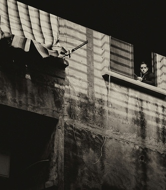Beirut, street, watcher