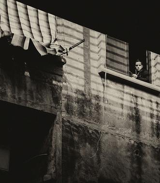 Beirut, street, watcher