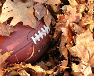 Football, leaves
