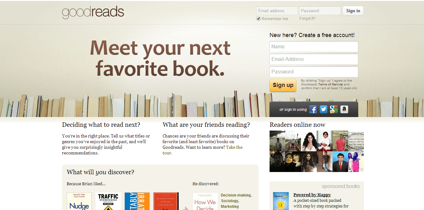 Goodreads | site built with Ruby On Rails | 41studio ruby on rails development company
