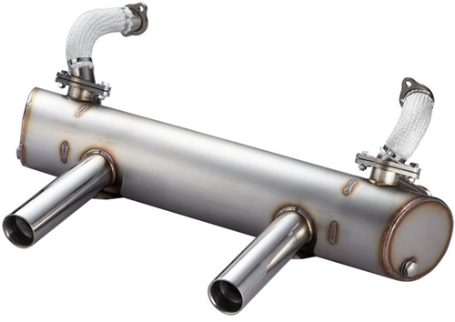 vintage speed stainless steel sport muffler up to 125hp for 1300 1600cc based type 1 engine in 1956 74 beetle super beetle and ghia 155 203 05200
