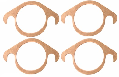 copper exhaust flange gaskets set of 4