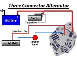 12V Alternator Kit, 55 Amp Alternator, Type 3 Engines (Squareback, Fastback, Notchback