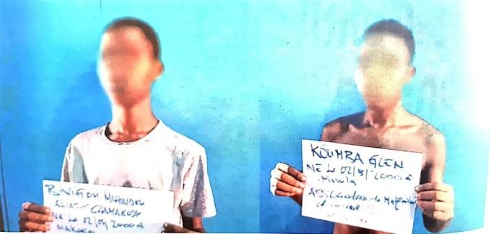 Mouila: 2 jeunes gabonais, membres d'un gang de vols aggravé en série appréhendés