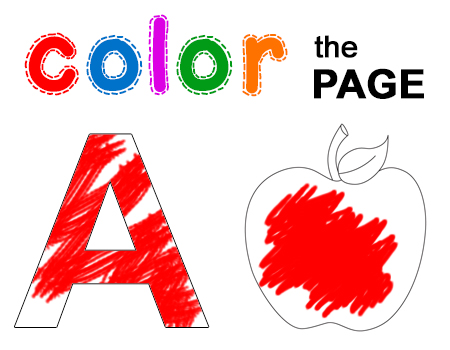 color the page color the letter coloring worksheets color
