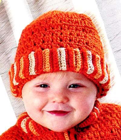 шапка для малыша крючком
