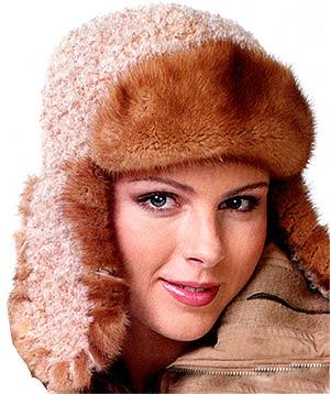 шапка-ушанка с мехом