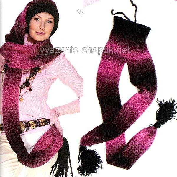 шапка-шарф со схемой
