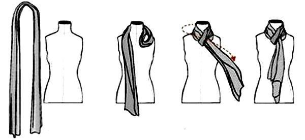 как красиво завязать шарф на шею 1