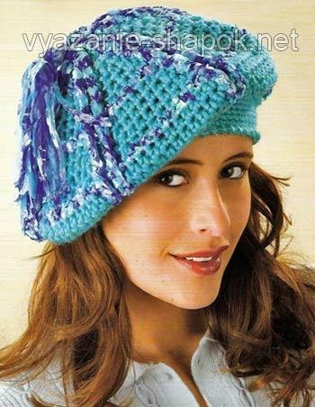 модели вязаных женских шапок