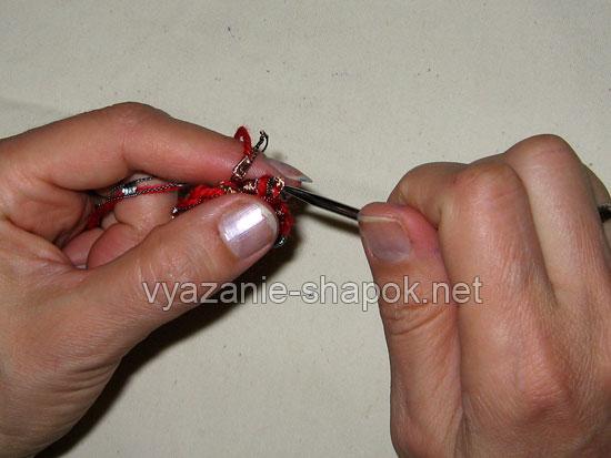 Вяжем самый простой берет крючком 7