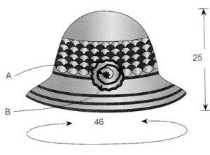 вязаная шляпка схема