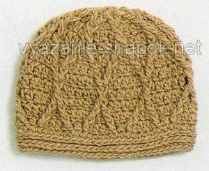 теплая шапка крючком