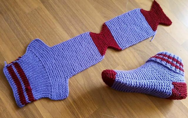 Sokker på to strikking
